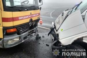 Starker Nebel und Glatteis: In Oblast Riwne sieben Autos zusammengeprallt