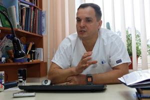 Serhij Schypilow, Chef der Chirurgischen Klinik des Hospitals Charkiws