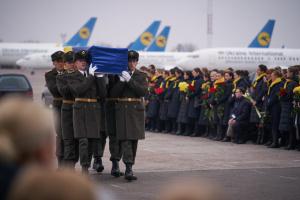 Церемонія вшанування пам'яті загиблих унаслідок катастрофи літака МАУ в Ірані