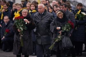"""У """"Борисполі"""" триває церемонія прощання із загиблими в катастрофі літака МАУ"""