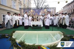 У Львові всі конфесії взяли участь в освяченні води