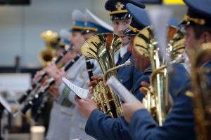 """У """"Борисполі"""" військовий оркестр вшанував пам'ять кіборгів"""
