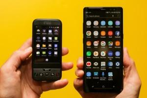 """Диагональ смартфонов за пять лет """"выросла"""" на 20%"""
