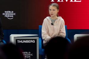 Захист клімату: Тунберг уже виступила у Давосі, пізніше - промова Трампа