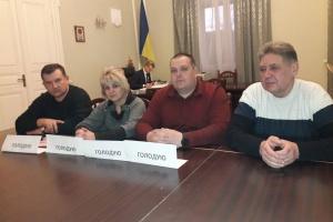 """Профсоюзные лидеры """"Львовуголь"""" в здании ОГА объявили голодовку"""