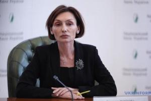 Rozhkova será jefa en funciones del Banco Nacional de Ucrania