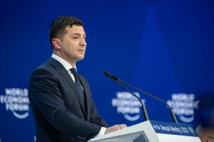 Zełenski przemawiał na Forum Ekonomicznym w Davos