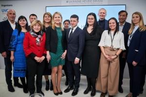 Зеленський відвідав Український дім у Давосі