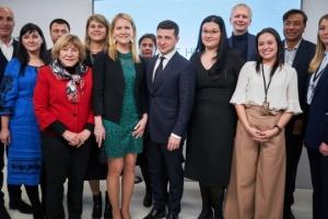 Zelensky visits Ukraine House Davos