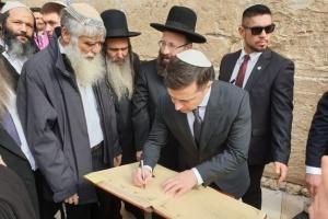 Zelensky reza por la paz en Ucrania ante el Muro de las Lamentaciones