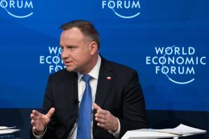 Дуда у Давосі: Двері до НАТО мають бути відкритими для всіх