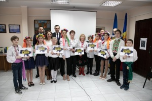 Українці Молдови до Дня Соборності показали концертну виставу і провели флешмоб