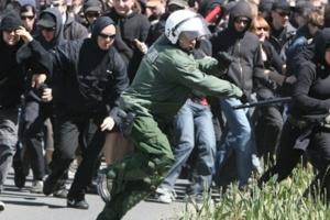 Під час демонстрації в Лейпцигу протестувальники почубились з поліцією