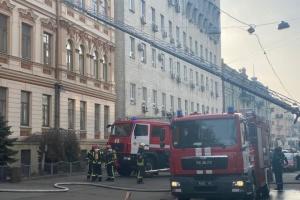 Стала известна возможная причина пожара в здании МКМС