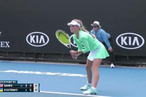 Костенко завершила виступ на юніорському Australian Open у парному розряді