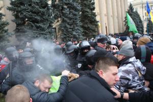 Мітинг ОПЗЖ за російську мову в Харкові завершився сутичками