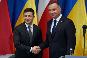 Zelensky, Duda make press statements