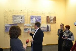 Сущенко вперше особисто презентував виставку власних малюнків