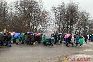 На Вінниччині протестувальники перекрили міжнародну трасу