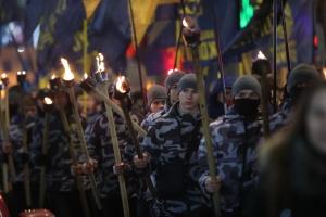 Центром Харкова пройшла смолоскипна хода на честь Героїв Крут