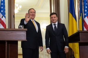 Zelensky, Pompeo discuss fight against coronavirus, U.S. loan guarantees