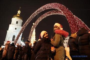 Plus de 100 mille personnes ont célébré le Nouvel An sur la place Sophie à Kyiv