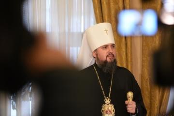 Epifaniy felicita a los ucranianos por la Navidad
