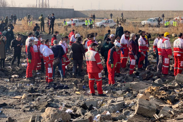 Samolot UIA z 176 osobami na pokładzie rozbił się w Teheranie