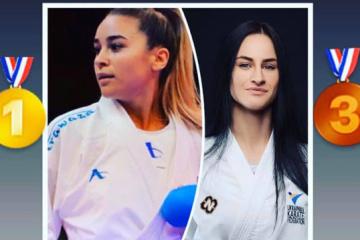 Ucranianas ganan dos medallas en un torneo de karate en Santiago