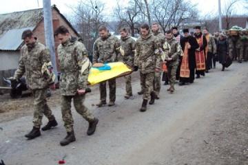 Les habitants de la région de Jytomyr ont fait leurs adieux au militaire tué dans le Donbass