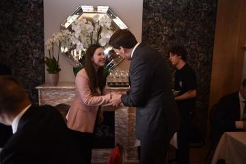 Goncharuk se reúne con la primera ministra de Finlandia en Davos