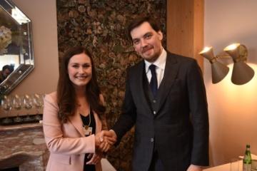 Olexiy Hontcharouk s'est entretenu avec Sanna Marin, Première ministre finlandaise