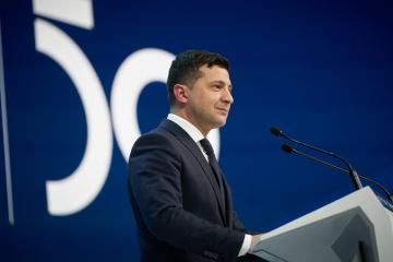 Volodymyr Zelensky tient son discours au Forum économique de Davos