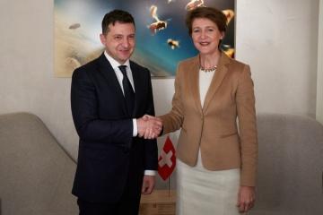 ゼレンシキー大統領、スイス大統領と会談