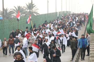 Сотни демонстрантов в Багдаде требуют вывести из Ирака войска США
