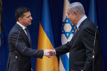 ゼレンシキー大統領、ネタニヤフ・イスラエル首相と会談 ホロコースト時の自身の家族の経験に言及