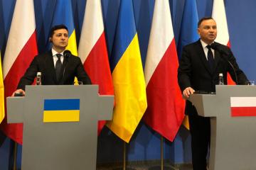 Volodymyr Zelensky et Andrzej  Duda ont fait une déclaration conjointe aux journalistes