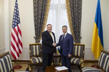 Prystajko i Pompeo umówili się zacieśnić strategiczne partnerstwo Ukraina-USA