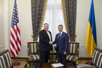 Treffen von Außenminister Prystaiko und Pompeo: Ukraine und USA vereinbaren Vertiefung der strategischen Partnerschaft