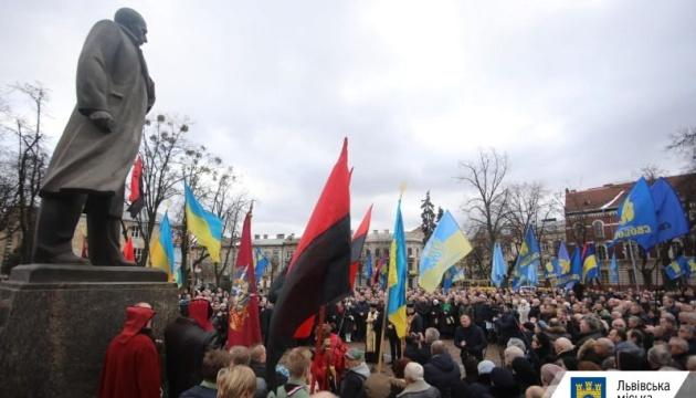 Львів`яни вшанували 111 річницю від дня народження Степана Бандери