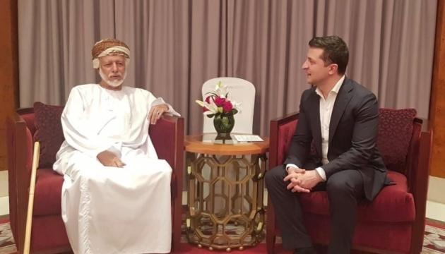 En visite à Oman, Zelensky s'est entretenu avec le ministre des Affaires étrangères du pays