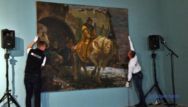"""У Мистецькому арсеналі показують процес реставрації картини """"Таємний виїзд Івана Грозного..."""""""