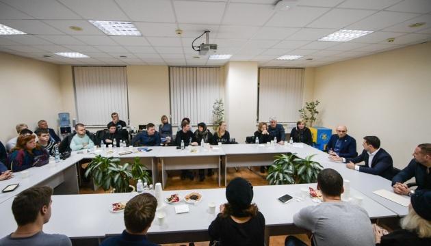 Volodymyr Zelensky a rencontré les familles des personnes mortes dans l'écrasement de l'avion