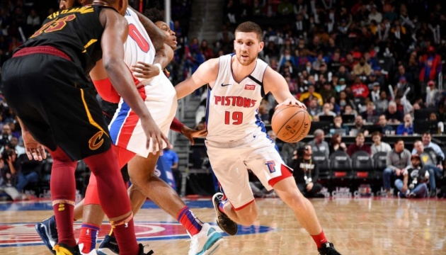 НБА: Михайлюк набрал 5 очков, «Детройт» проиграл «Кливленду»