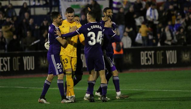 Лунин отразил два пенальти и вывел «Вальядолид» в 1/16 финала Кубка Испании