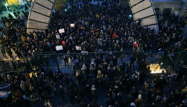 В Иране возобновились протесты из-за катастрофы самолета МАУ