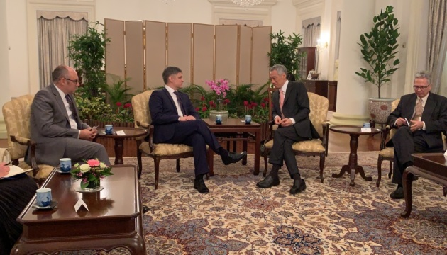 Vadym Prystaiko s'est entretenu avec Lee Hsien Loong, Premier ministre de Singapour