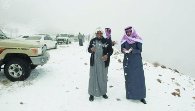 У Саудівській Аравії випав сніг