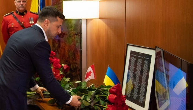 Zelensky honors memory of Canadians killed in UIA plane crash in Iran