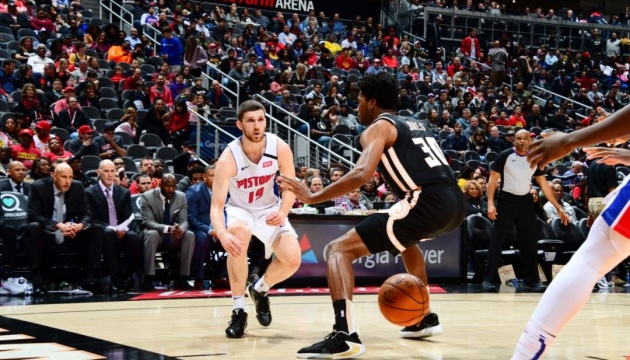 НБА: Михайлюк набрав рекордні 25 очок, «Детройт» переміг «Атланту»